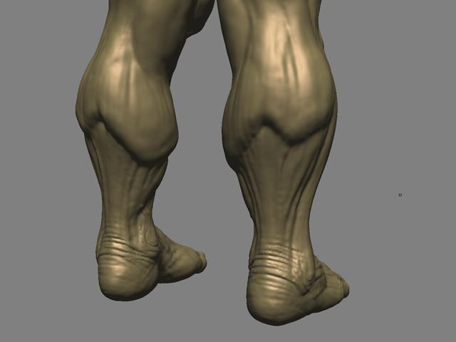 mudbox_rear_calves_3d_sculpt