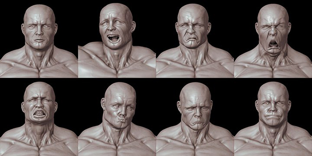 human_facial_blendshapes